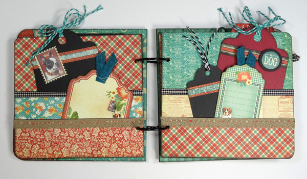 Great pockets, pages, and tags in Annette's Raining Cats & Dogs album #graphic45