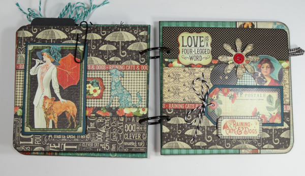 The beautiful pages in Annette's Raining Cats & Dogs album #graphic45