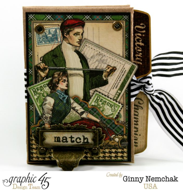 Learn how to make this dapper Good Ol' Sport Wallet Album by Ginny #graphic45