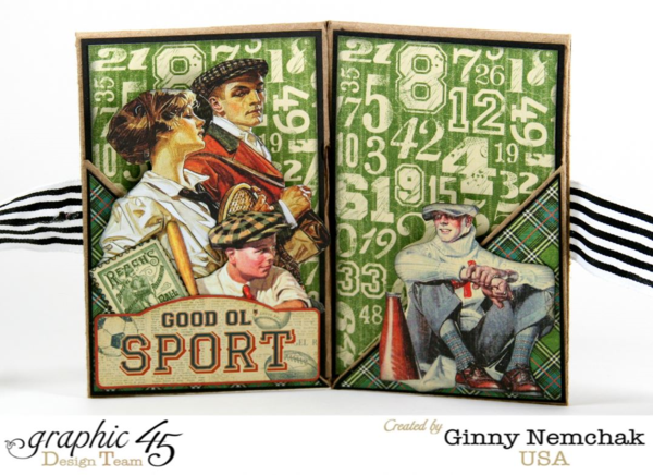 Amazing Good ol' Sport wallet album by Ginny. Check it out for the tutorial! #graphic45