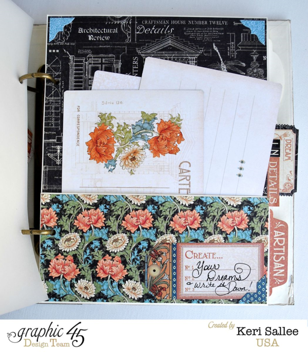 The amazing pages in Keri's Artisan Style mixed media album #graphic45