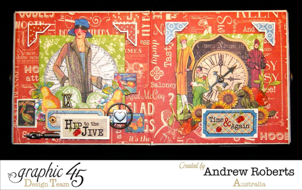 Times nouveau haberdashery box by Andrew using 2 mixed media boxes! #graphic45