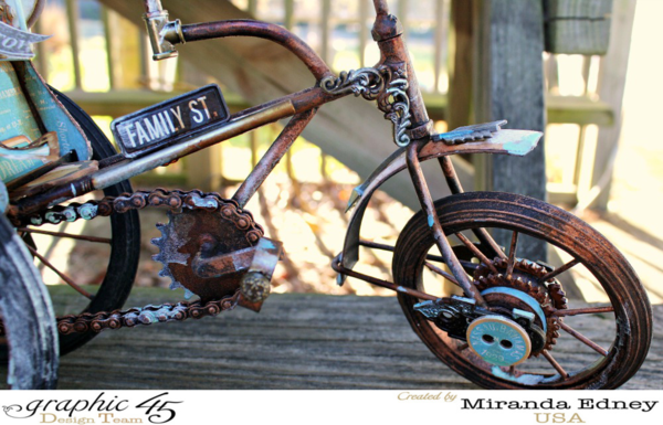 What an amazing altered Come Away with Me bike and carriage by Miranda Edney! What a fabulous creation #graphic45