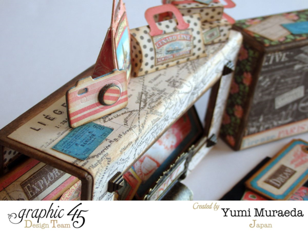Come Away with Me music box by Yumi. These details on top are gorgeous! #graphic45