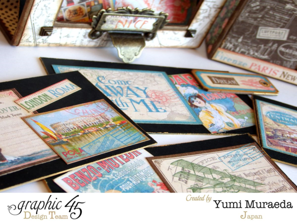 Amazing tags and cards in this Come Away with Me music box by Yumi! #graphic45
