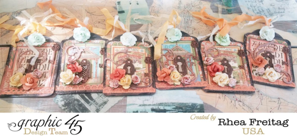 Amazing Artisan Style tag series by Rhea - so stunning! #graphic45
