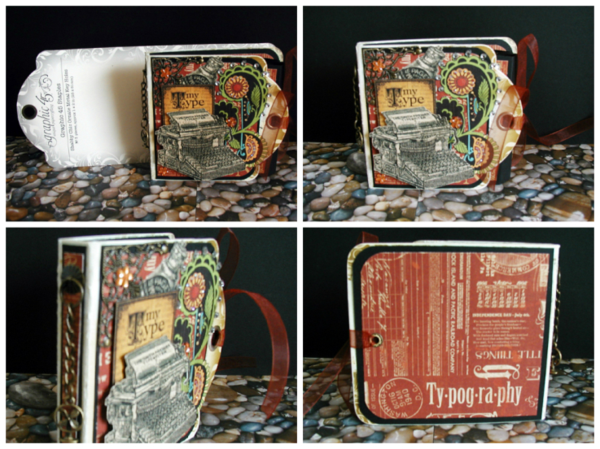 Typography mini tag album by Sharon Lee Wade-Coughlin #graphic45