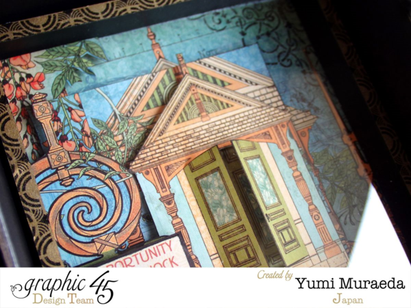 Yumi creates a stunning border with the G45 Washi Tape. Love the way she used the deocorative Artisan Style door! #graphic45