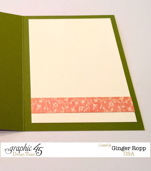 "The inside of Ginger's Once Upon a Springtime ""Happily Ever After"" Card! Beautiful! #graphic45"