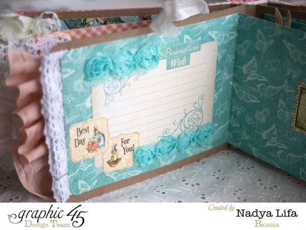 """Boundless Wish"" page of this Once Upon a Springtime mini album by Nadya #graphic45"