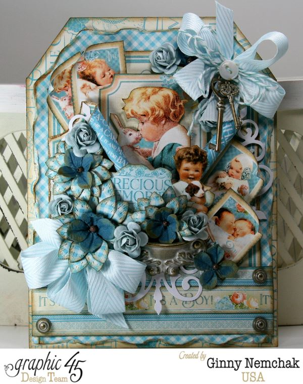 "Stunning Precious Memories ""It's a Boy"" tag by Ginny #graphic45"