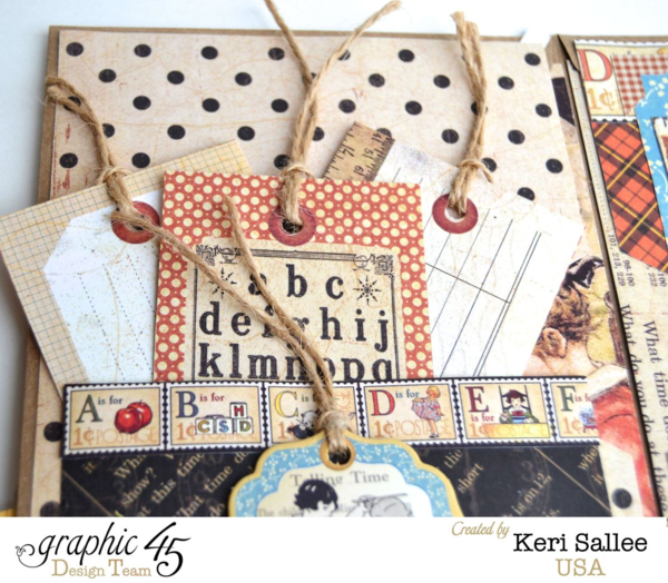The amazing pages, pockets, and tags in Keri's An ABC Primer notebook album #graphic45