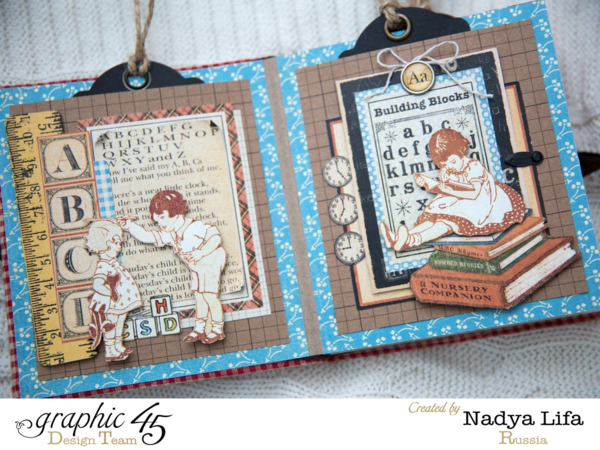 An ABC Primer mini album by Nadya Lifa #graphic45