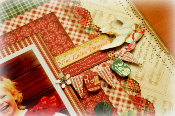 Non-holiday Twelve Days of Christmas layout by Rhea #graphic45