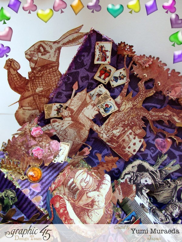 Hallowe'en in Wonderland Alice stage by Yumi #graphic45