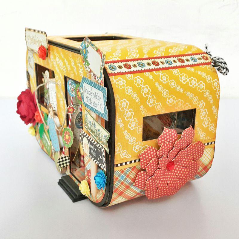 Bedtime Caravan Album - Mother Goose - by Belly Lau - Graphic 45 - 2 of 19