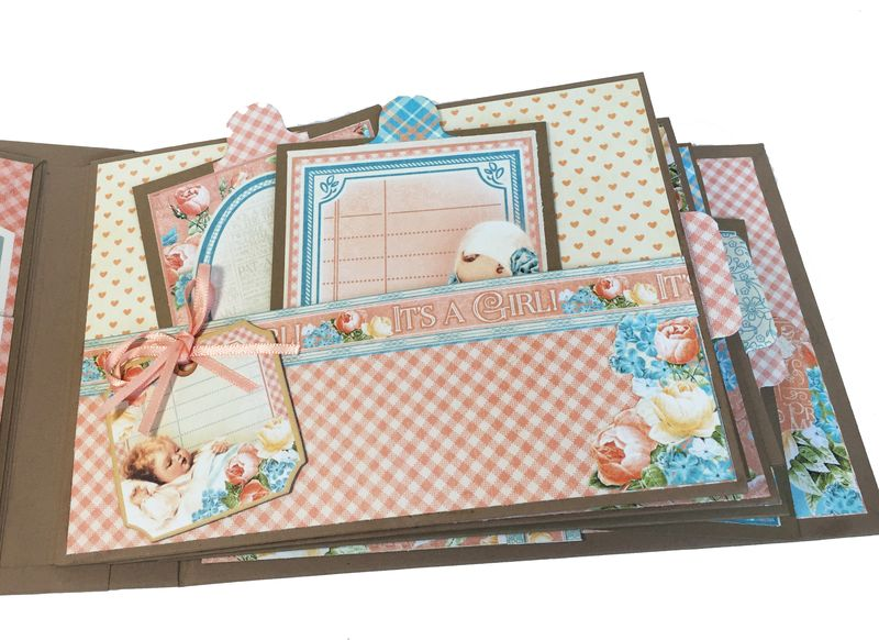 Baby Girl Mini Album, Precious Memories, by Danielle Copley, product by Graphic 45, photo 4