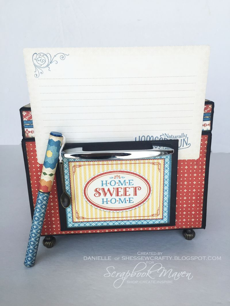 Oven Recipe Box, Home Sweet Home, by Danielle Copley, product by Graphic 45, photo 8