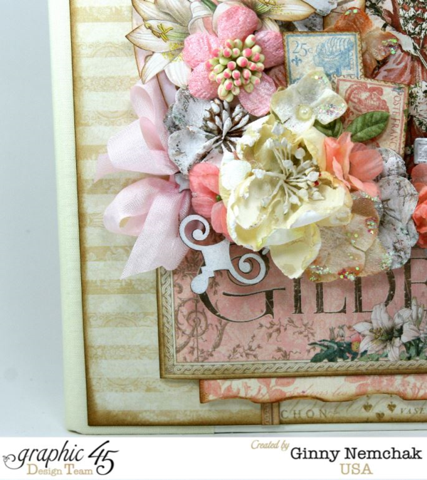 Gilded Lily Album Cover by Ginny - click to see tutorial! #graphic45