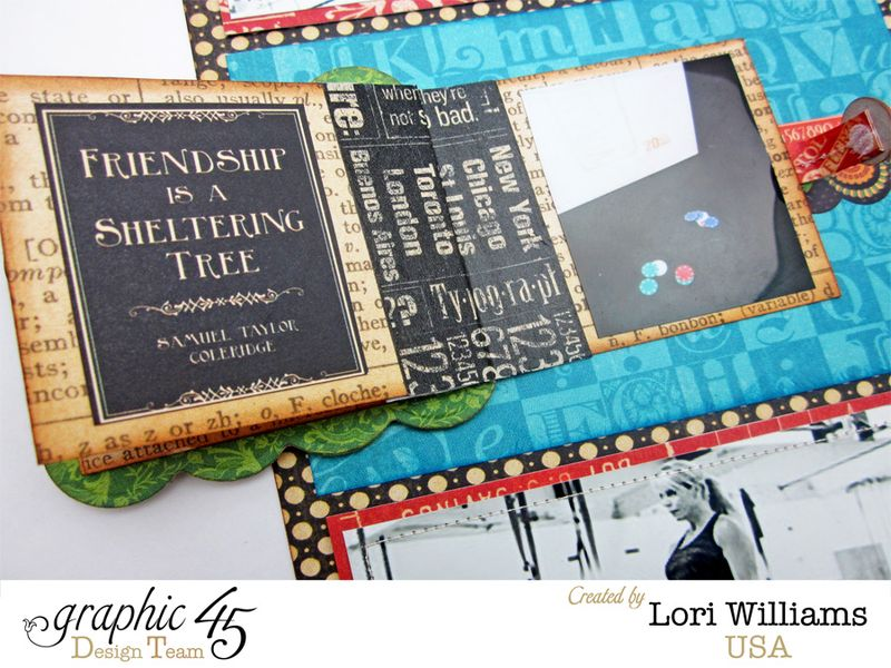 Typography Pocket Page Layout by Lori Williams using Graphic 45 product 5