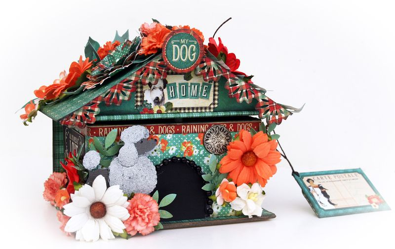 Doghouse gift box, Raining Cats and Dogs, Maggi Harding, Graphic 45, photo 1