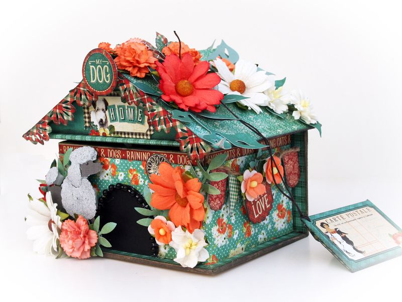 Doghouse gift box, Raining Cats and Dogs, Maggi Harding, Graphic 45, photo 2