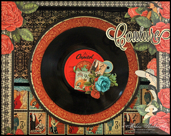 Record Player, Couture, Robin Shakoor, Product by Graphic 45