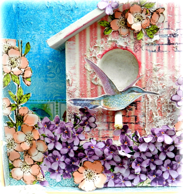 Mixed Media Box by Solange Marques Graphic 45 Botanical Tea Collection