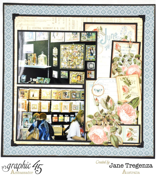 June Double Layout by Jane Tregenza using Time to Flourish #graphic45