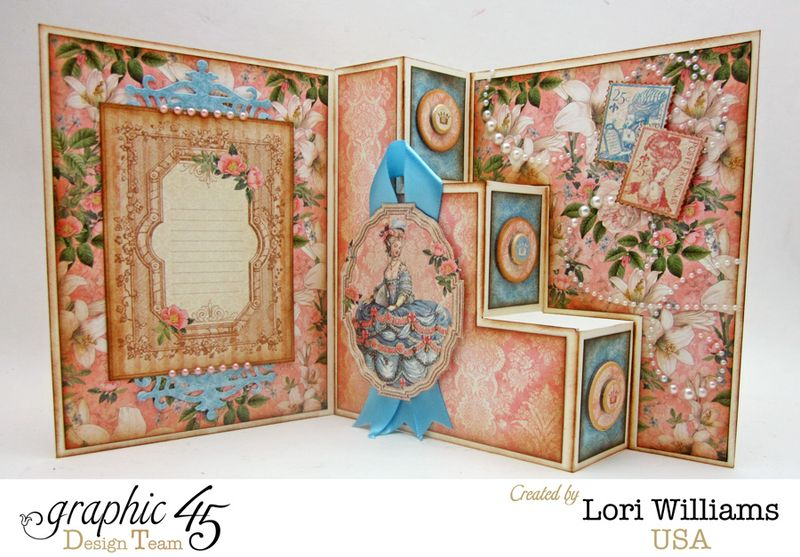 Step Card, Gilded Lily, by Lori Williams, Product by Graphic45, photo 2