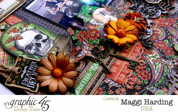 Halloween layout, Rare Oddities, Maggi Harding, Graphic 45 (1)