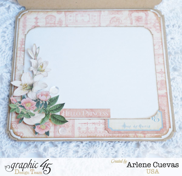 Inside of this Gilded Lily card by Arlene Cuevas #graphic45