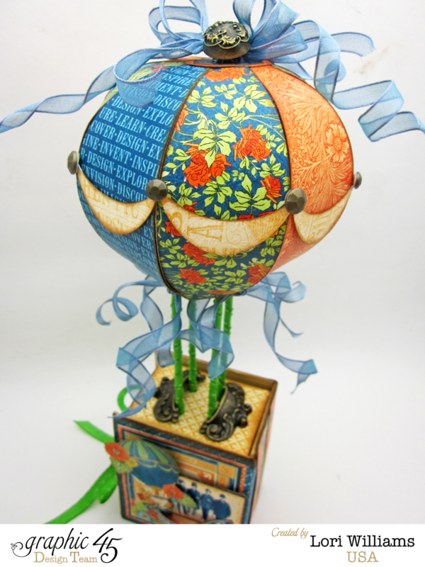 Hot Air Balloon Box by Lori williams, Worlds Fair Collection, Product by Graphic 45