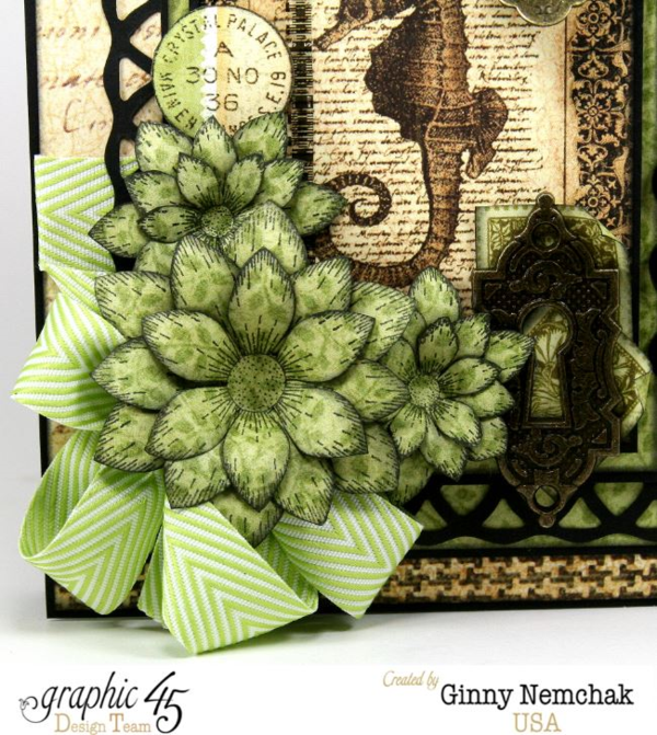 Botanicabella Seahorse Card by Ginny #graphic45