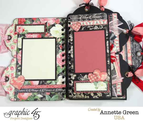 Mon Amour multi tag mini album by Annette #graphic45