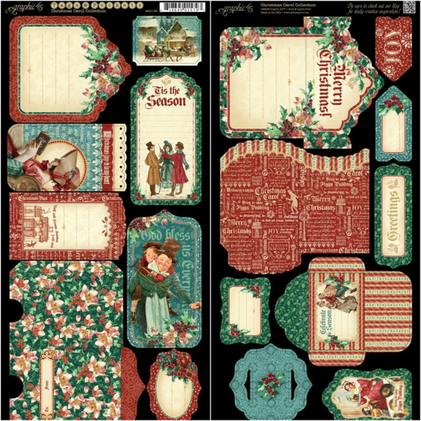 A Christmas Carol Cardstock Tags & Pockets. This new collection will be in stores in late August 2015 #graphic45 #sneakpeeks