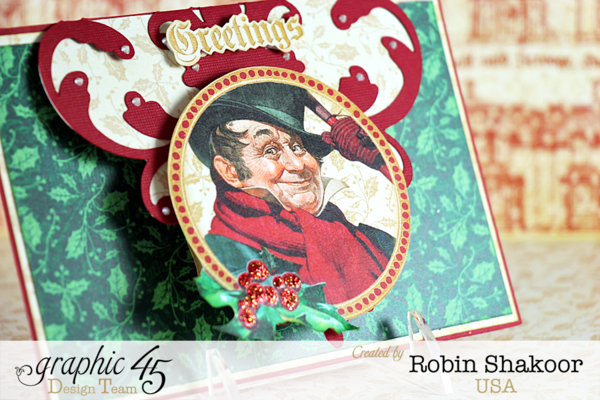 Greeting Card, A Christmas Carol, by Robin Shakoor, Product by Graphic 45