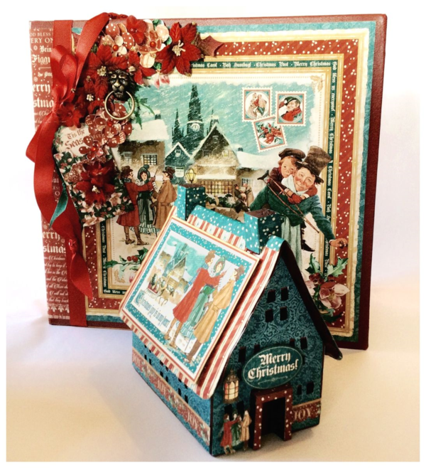 A Christmas Carol album and altered birdhouse from Diane's workshop! #graphic45 #sneakpeeks
