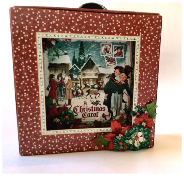 An altered matchbook box with A Christmas Carol from Diane's workshop #graphic45 #sneakpeeks