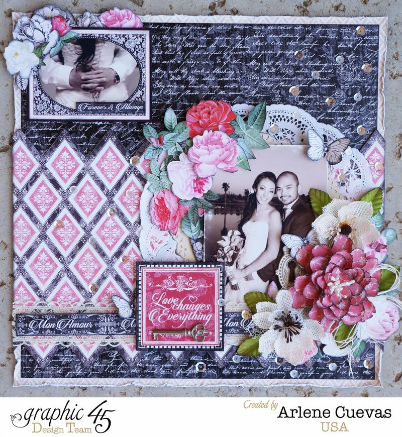 Wedding Layout_MonAmour_ArleneCuevas_Graphic45_Photo1