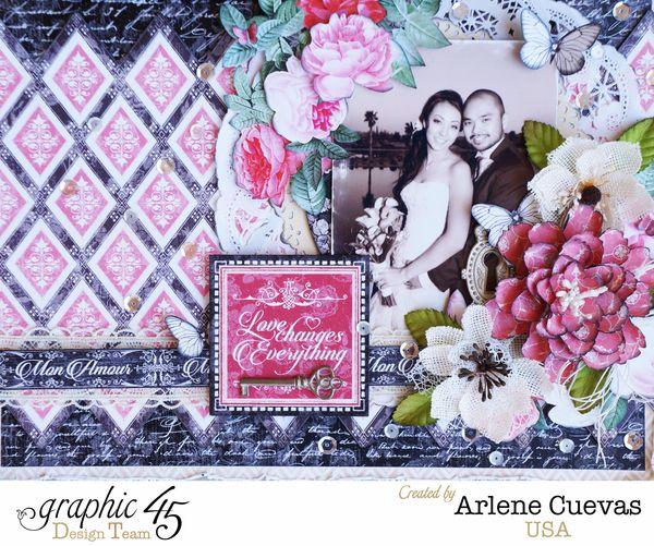 Wedding Layout_MonAmour_ArleneCuevas_Graphic45_Photo1