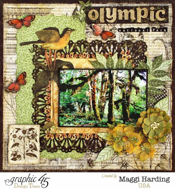 Olympic Layout Botanicabella, Maggi Harding,, Graphic 45
