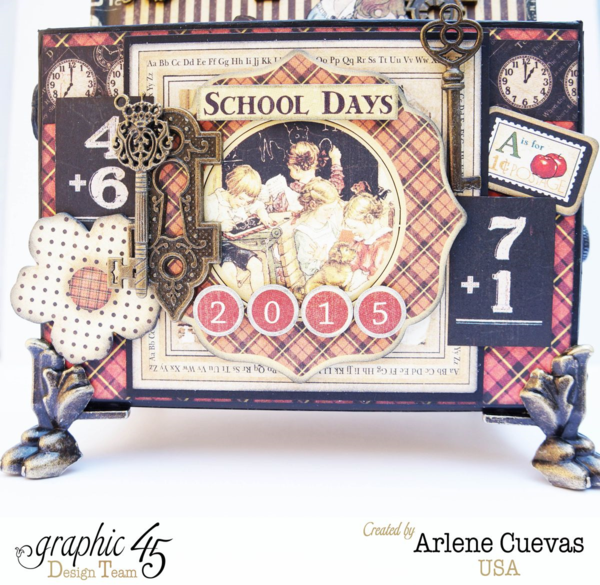 Back to School journals & stand by Arlene using An ABC Primer #graphic45