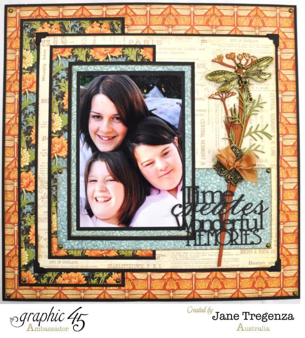 Time Creates Wonderful Memories layout by Jane using Artisan Style #graphic45