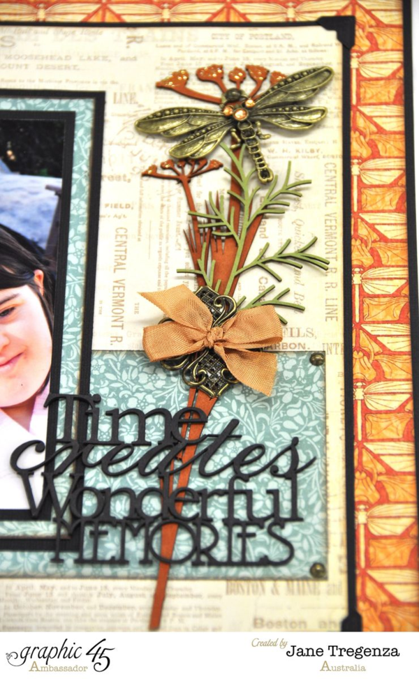 Time Creates Wonderful Memories layout by Jane using Artisan Style #graphic45
