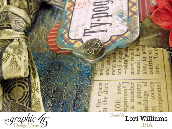 Typography Tag by Lori Williams with great stamp techniques #graphic45
