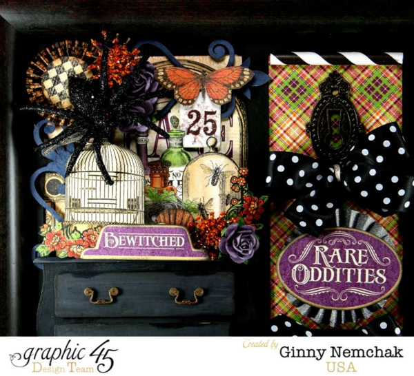 Rare Oddeties Wall Hanging- Halloween Decor by Ginny #graphic45