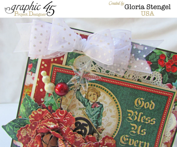 """God Bless Us Everyone!"" A Christmas Carol card by Gloria #graphic45"