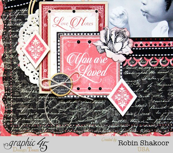 You are Loved Layout, Mon Amour, by Robin Shakoor, Product by Graphic 45, Photo 1