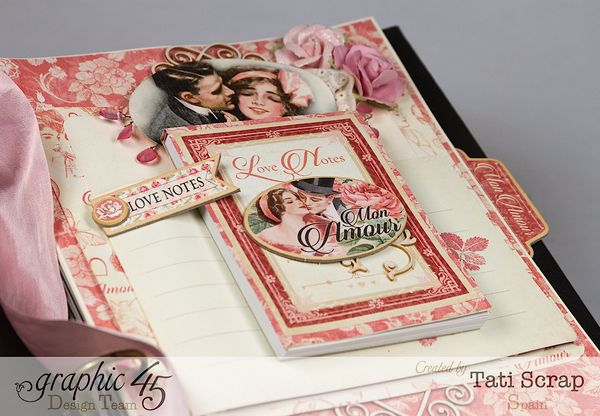 Tati, Just Married, Mixed Media Album, Mon Amour, Product by Graphic 45, Photo 10